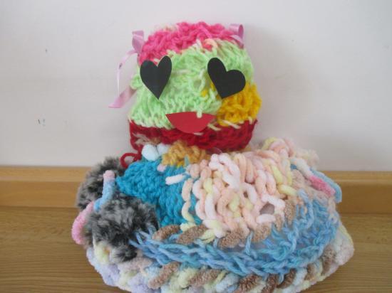 指編みから,ぬいぐるみを制作しました♪